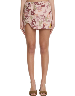 The Attico Skirt In Camouflage Polyester