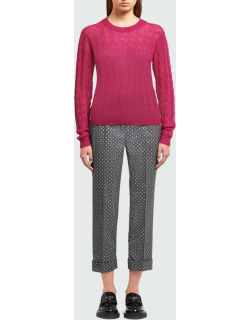 Cable-Knit Mohair-Blend Sweater