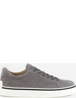 Tods Suede Sneakers With Rubber Detail On The Back