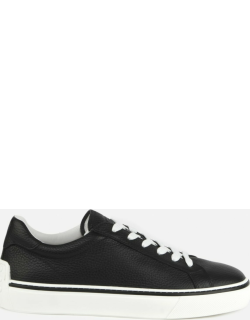 Tods Hammered Leather Sneakers With Contrasting Profiles