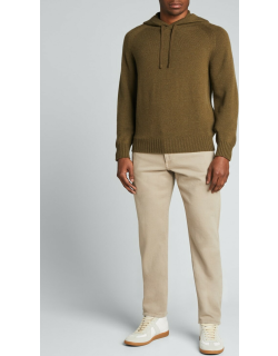 Men's Cashmere Knit Hooded Sweater