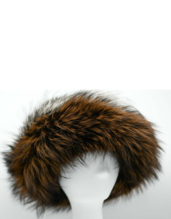 Cashmere Hat with Bicolor Fur Cuff