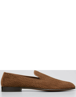 Men's Perforated Leather Slip-Ons