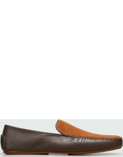 Men's Mayfair Suede and Leather Loafers Slippers