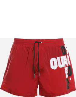 Dsquared2 Swimsuit With Contrasting Logo