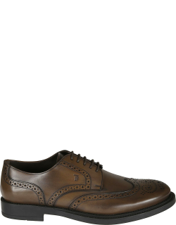 Tods Logo Stamped Perforated Derby Shoes