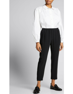 Relaxed Tapered Track Pants with Elastic Waist