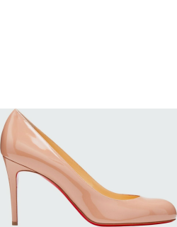 Simple Patent 85mm Red Sole Pump