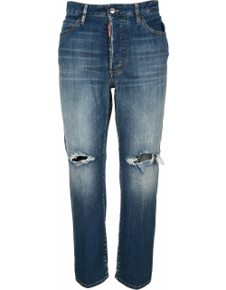 Dsquared2 D Squared Ripped-detail Cropped Jeans