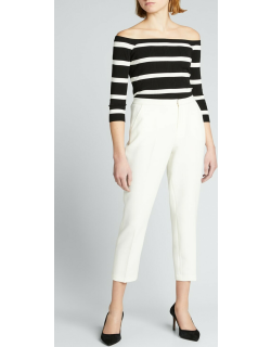 Sawyer High-Rise Cropped Trousers