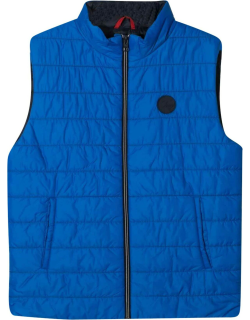Fay Padded Vest With Logo Patch