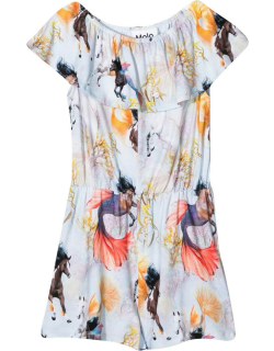 Molo Short Jumpsuit With Horses Of The Sea Print