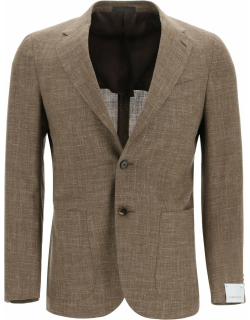Caruso Tosca Blazer In Wool Silk And Linen Blend