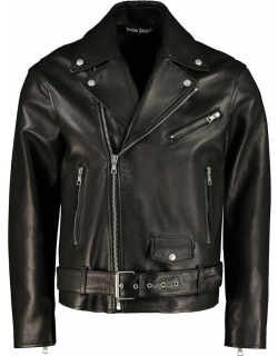 Palm Angels Belted Leather Jacket
