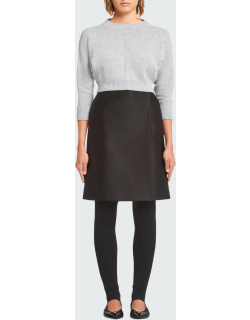 Wool-Cashmere Knit Cropped Sweater