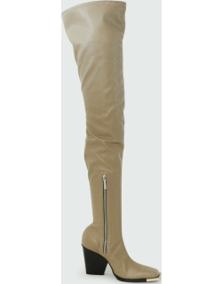 Vaiora Slouchy Thigh-High Leather Boots
