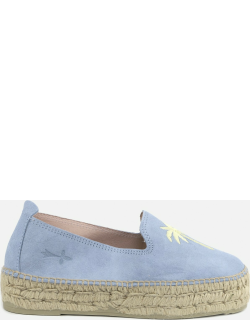 Manebi Suede Espadrilles With Embroidered Motif