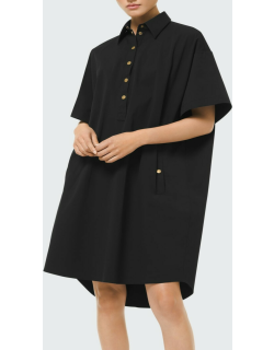 High-Low Collared Shift Dress
