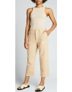 The Patch Pocket Private Ankle Cargo Pants