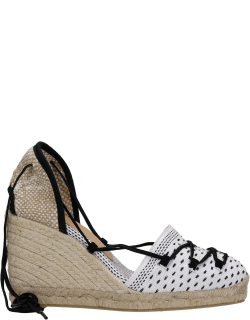 Castañer Cala Wedges In White Fabric