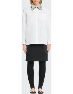 Embellished Ricamo Collared Button-Down Shirt