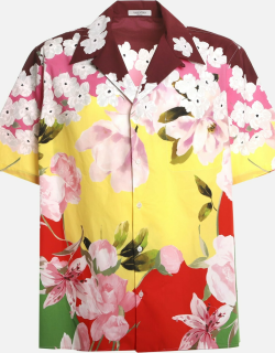 Valentino Cotton Shirt With All-over Floral Print