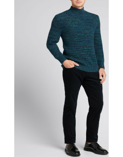Men's Space-Dyed Turtleneck Sweater