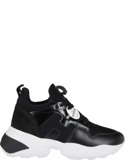 Hogan Black Leather Interaction Sneakers
