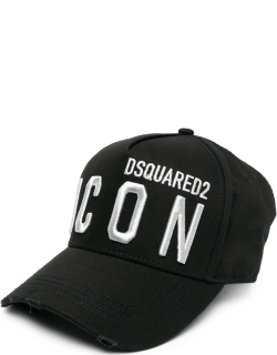 Woman Black And Silver Icon Dsquared2 Baseball Cap