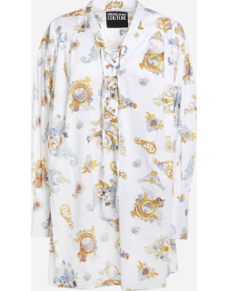 Versace Jeans Couture Cotton Blend Shirt With All-over Baroque Print