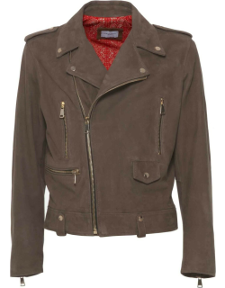 Family First Milano Biker Leather Suede Taupe