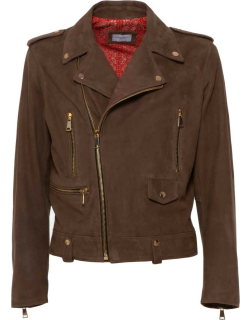 Family First Milano Biker Leather Suede Brown