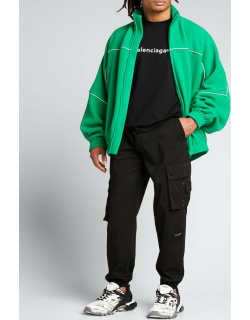Men's Fleece Track Jacket With Piping