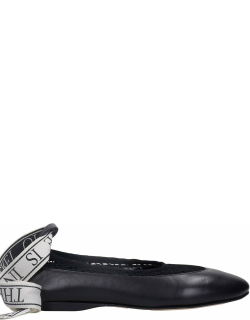 J.W. Anderson Mesh Ballet Flats In Black Leather