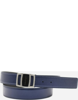 Salvatore Ferragamo Reversible Leather Belt With Metal Buckle With Logo