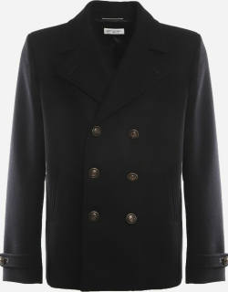 Saint Laurent Double-breasted Pea Coat Made Of Wool