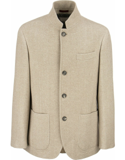 Brunello Cucinelli Caban In Virgin Wool And Cashmere