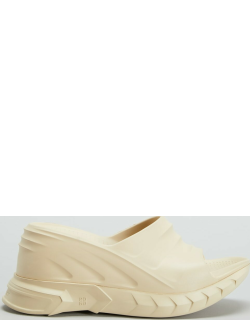 Marshmellow Rubber Wedge Mule Sandals