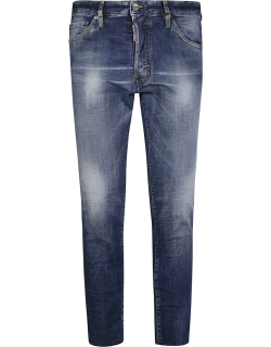 Dsquared2 Logo Patch Cropped Jeans