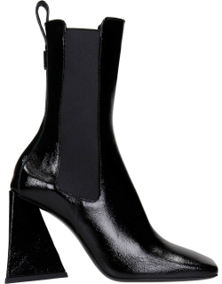 The Attico Ankle Boots In Black Leather
