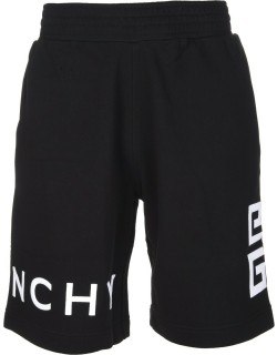 Man Black Bermuda With Givenchy 4g Embroidery