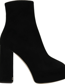 Giuseppe Zanotti Morgana High Heels Ankle Boots In Black Suede