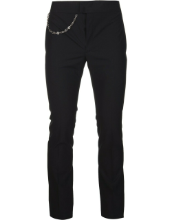 Givenchy Man Black Wool Trousers With Chain