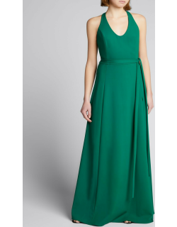 Bonded Jersey Racerback Gown w/ Thigh-Slit