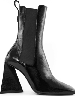 The Attico Black Polished Leather Boots