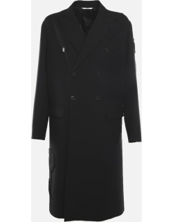 Valentino Virgin Wool Coat With Mens Garden Embroidery