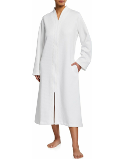 Zip-Front Quilted Pima Cotton Caftan