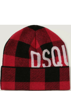 Dsquared2 Hat Dsquared2 Beanie Hat In Check Wool
