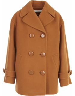 See by Chloé Double Breasted Coat W/revers Neck