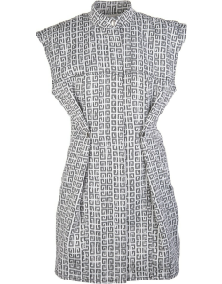 Givenchy Dress In Jacquard 4g With Denim Effect